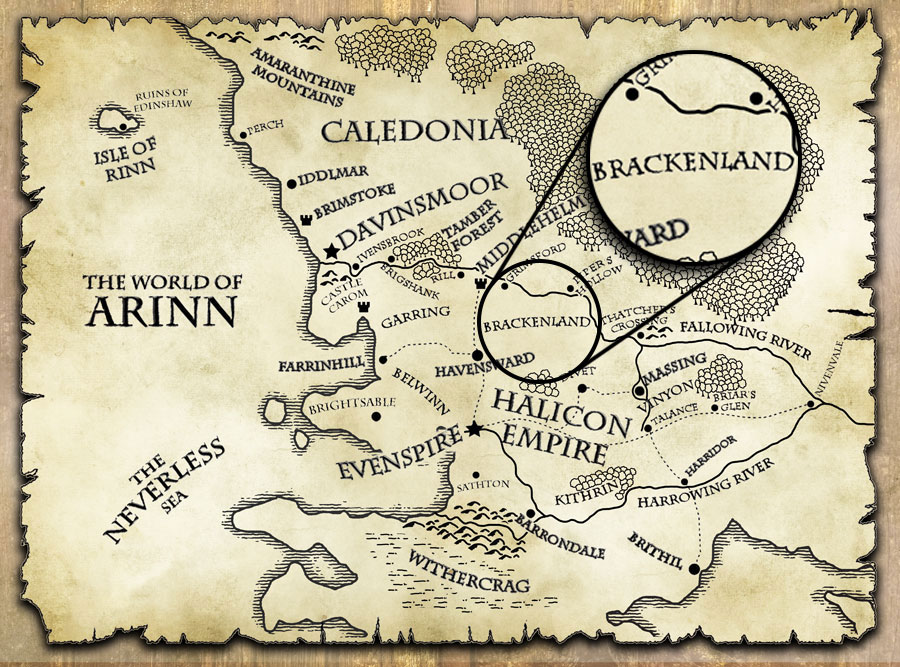 last motley map world of arinn brackenland