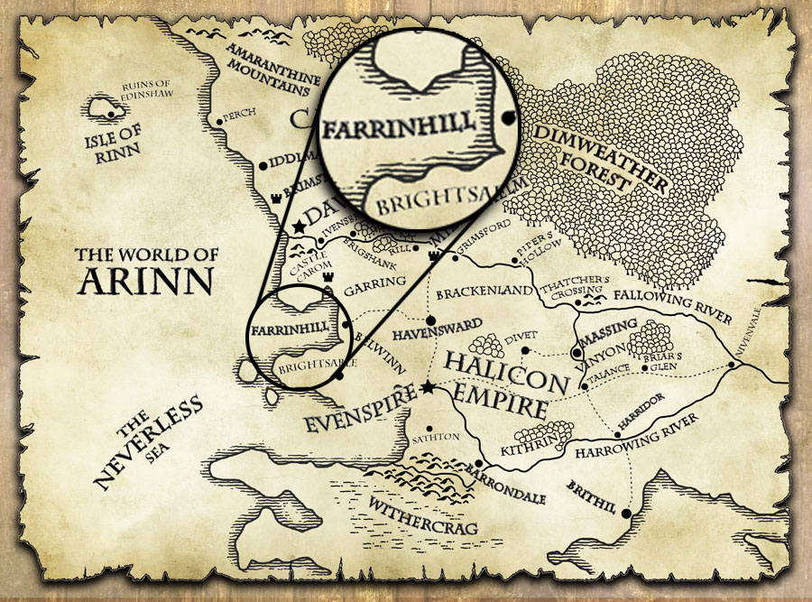 last motley map world of arinn farrinhill