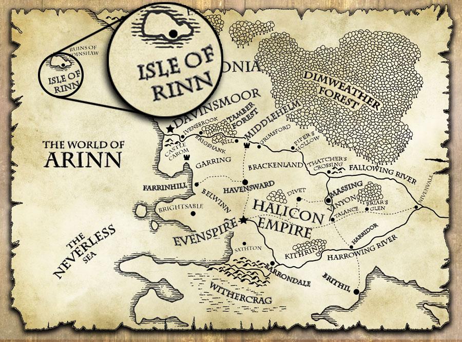 last motley map world of arinn isle of ring
