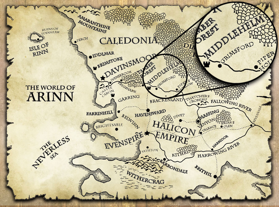 last motley map world of arinn middlehelm