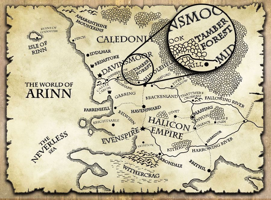 last motley map world of arinn tamber forest