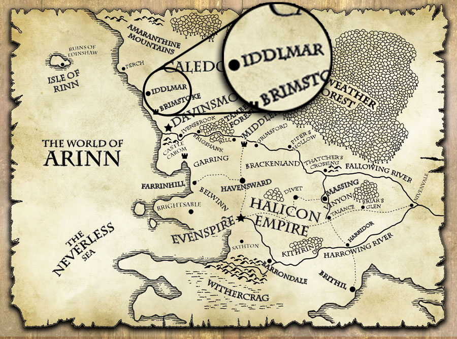 last motley map world of arinn iddlmar